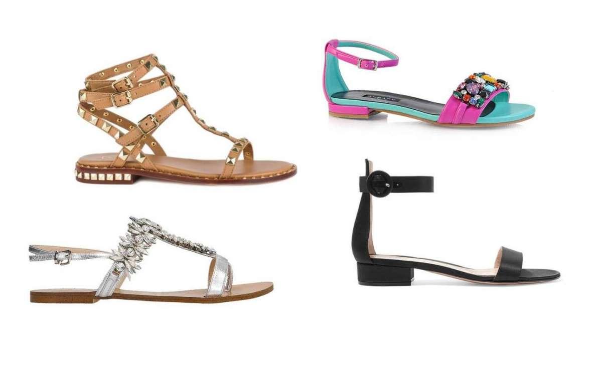 Sandali bassi eleganti e senza tacco: i modelli più belli