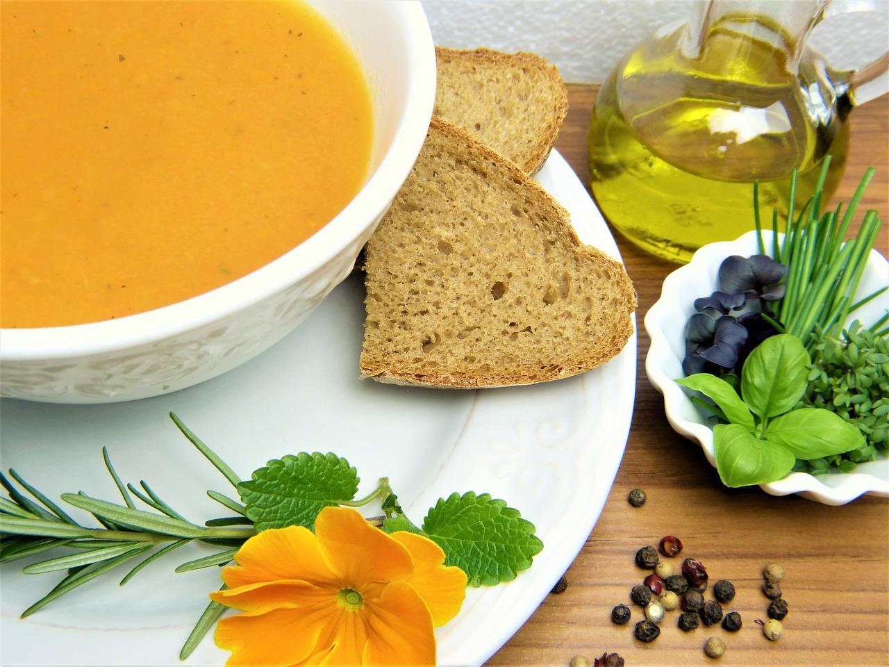 zuppa carote dieta mediterranea