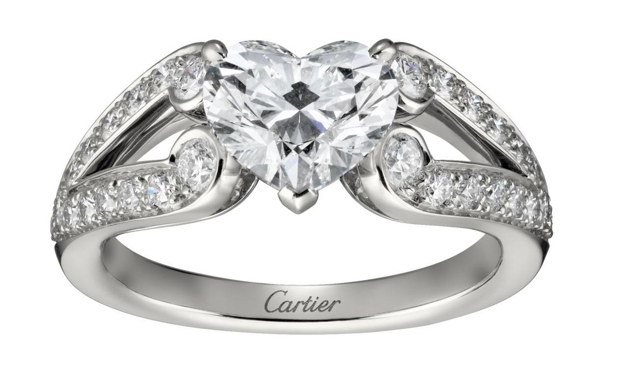 Anello di fidanzamento con diamante da 1 carato Cartier