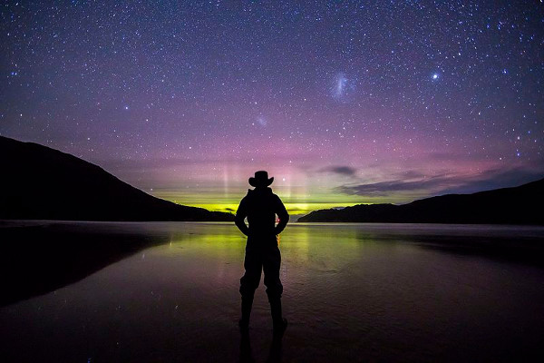 Aurora australe Tasmania
