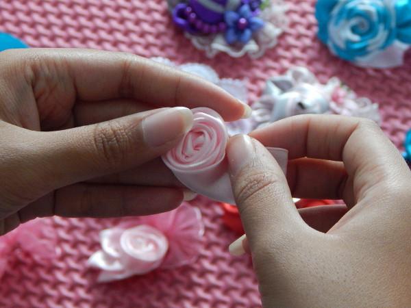 Fiore petalo rosa nastro