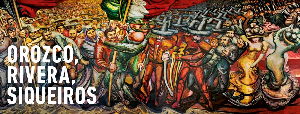 """México """"La Mostra Sospesa"""" Orozco, Rivera Y Siqueiros"""