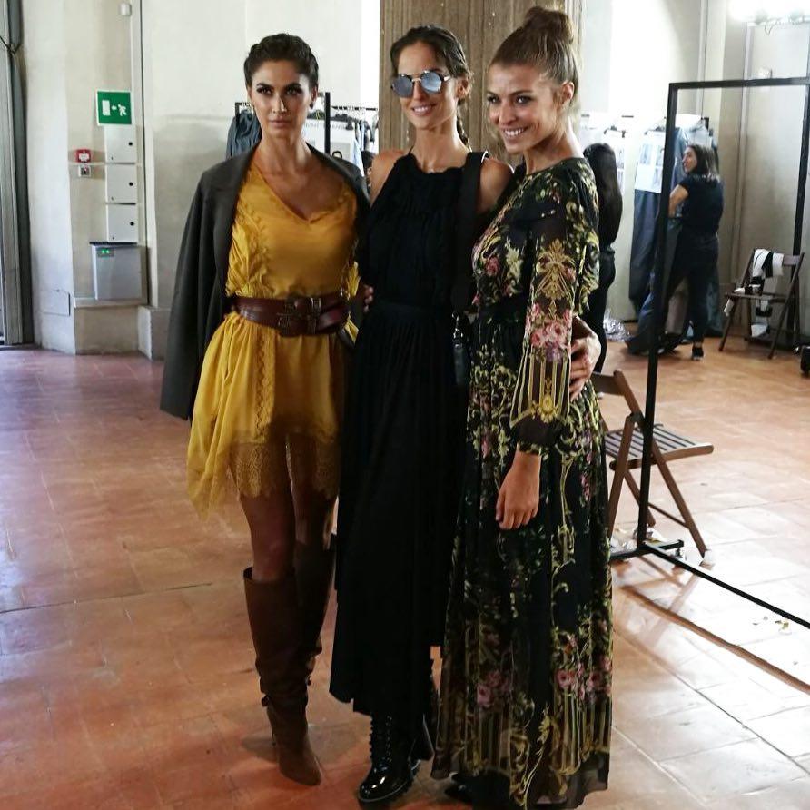 Melissa Satta, Isabel Goulart e Cristina Chiabotto da Alberta Ferretti insta