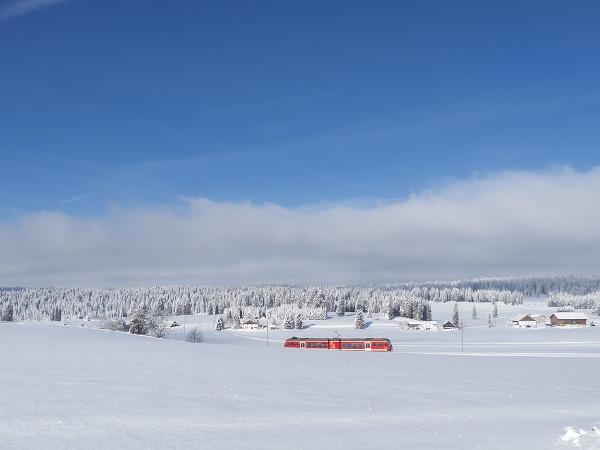 Treno Svizzera neve