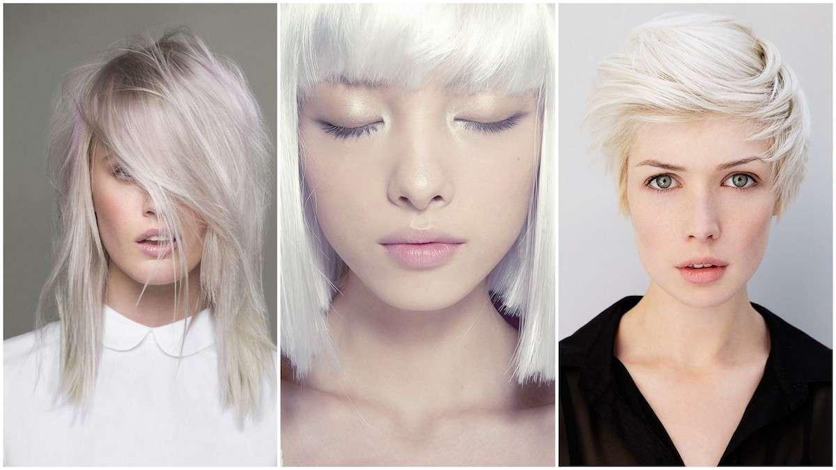 Taglio di capelli per capelli bianchi