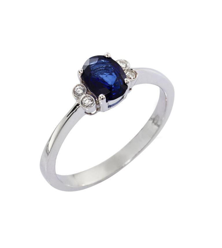 Anello con zaffiro e diamanti Gioielli di Valenza