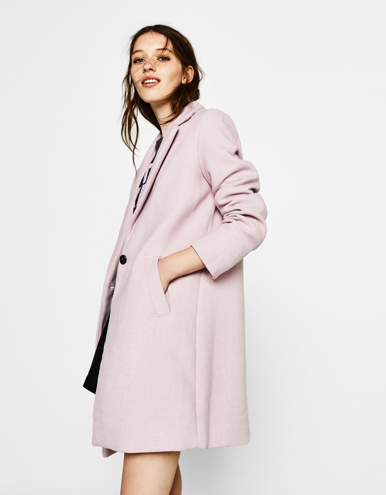Cappotto rosa Millenial Pink Bershka