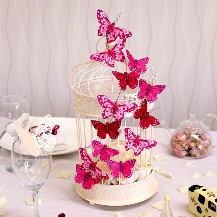 Centrotavola con farfalle