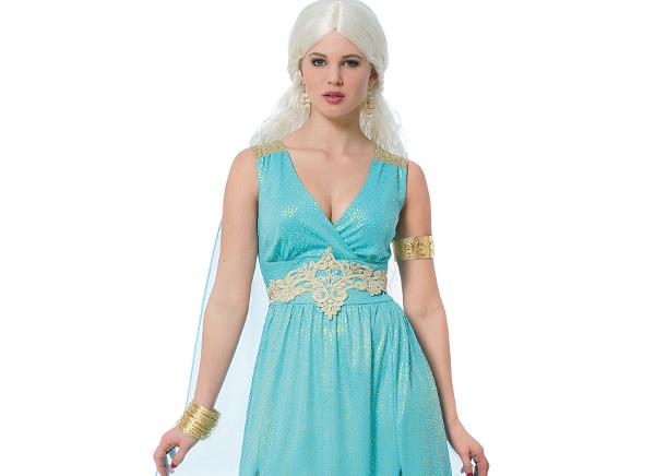 Daenerys Targaryen costume azzurro Halloween