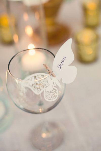 Decorazione per bicchiere con farfalla