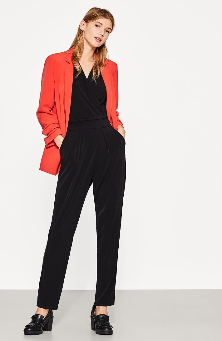 Giacca blazer rossa oversize Esprit