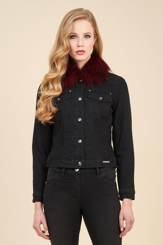 Giacca in jeans e pelliccia