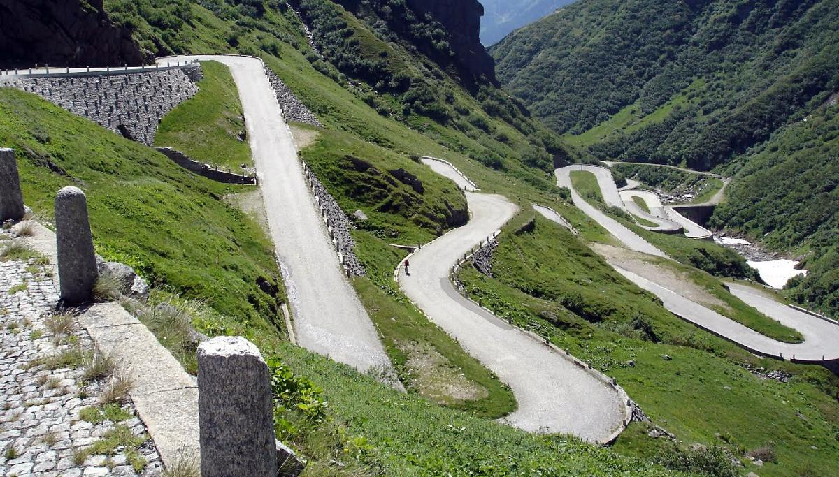 Gotthard pass Switzerland motorcycle