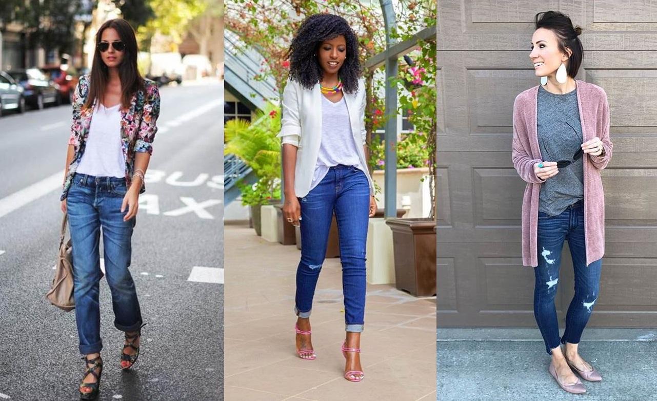 Outfit con jeans e maglietta