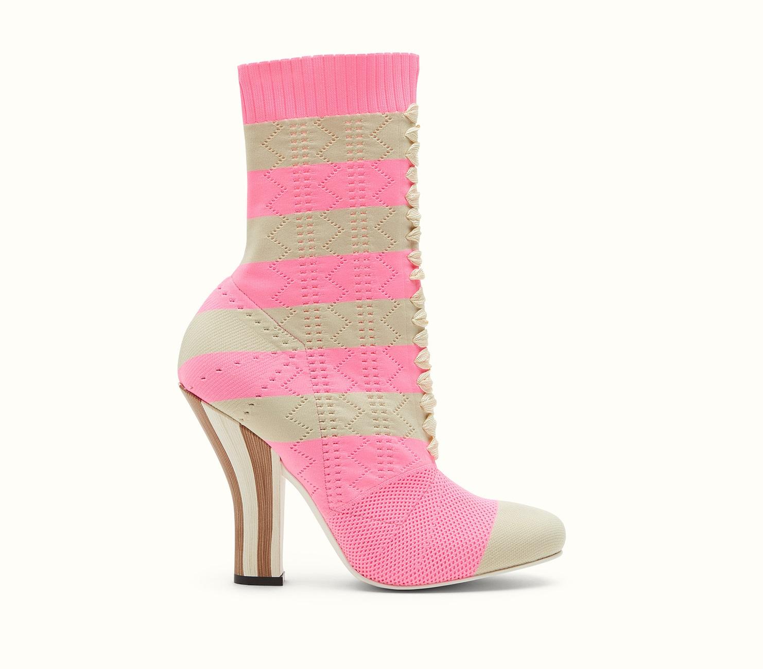 Stivali a calza Fendi