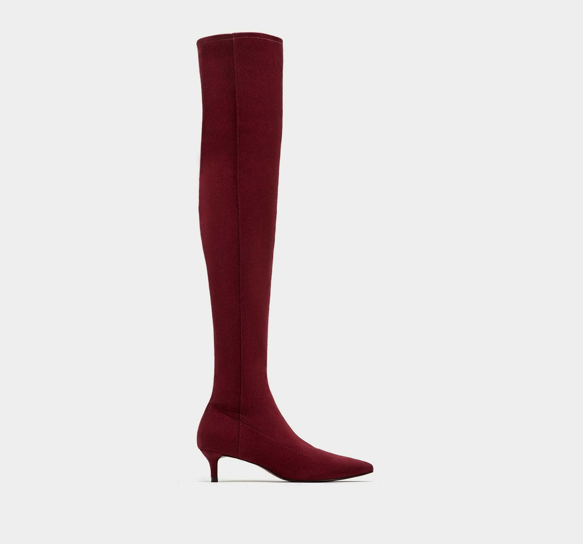 Stivali cuissard a calza Zara