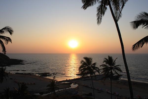 Tramonto Goa spiaggia