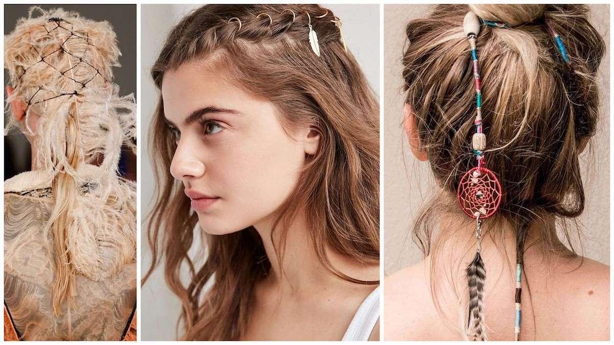 Accessori per capelli con piume