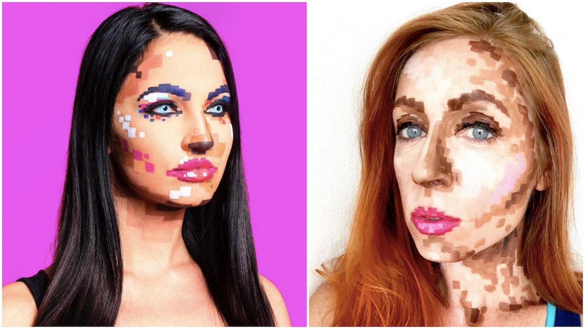 Make-up effetto pixel: la nuova tendenza geek in arrivo da Instagram