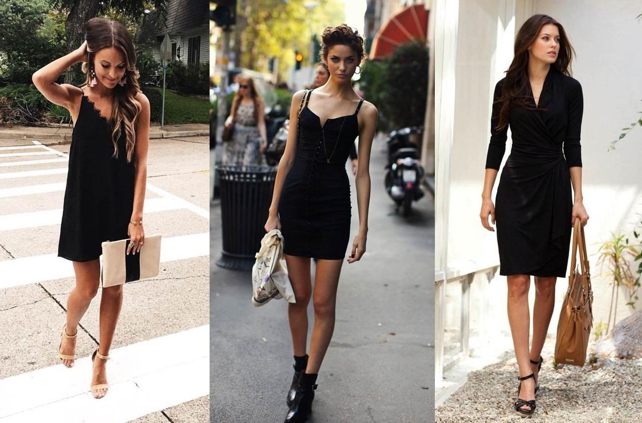 outfit con tubino nero