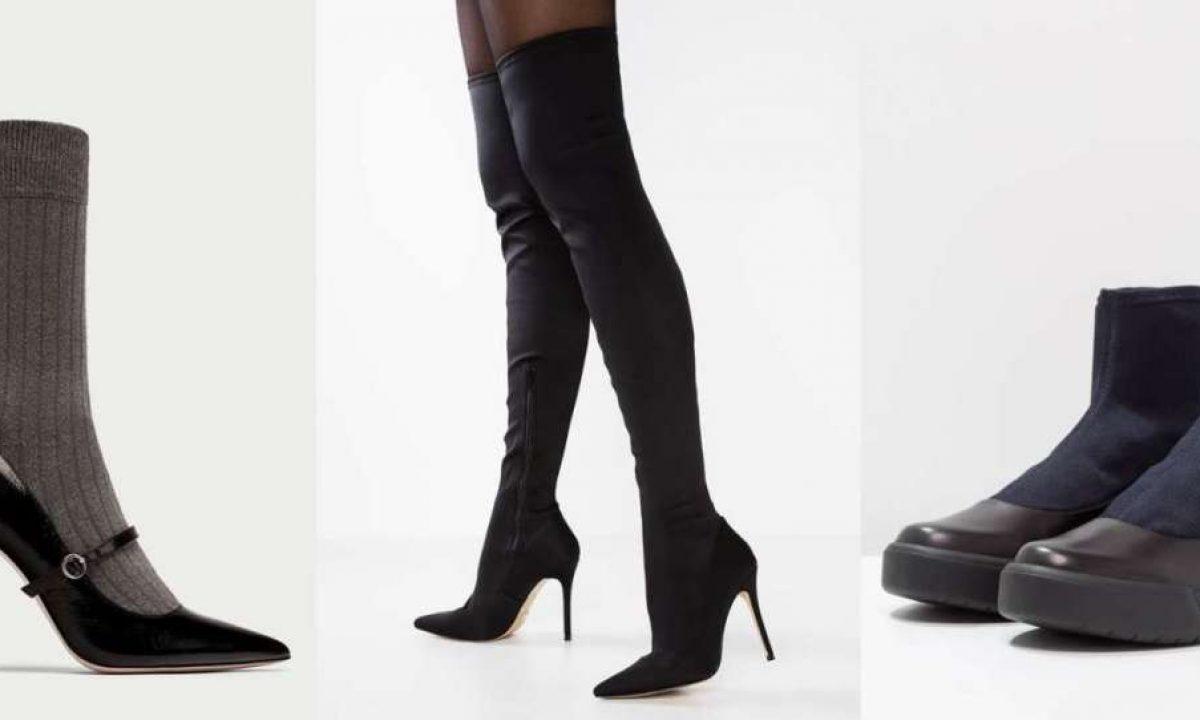 Stivali e scarpe a calza: come indossarle e i modelli più