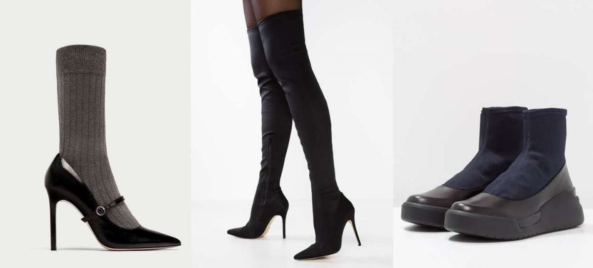 Stivali e scarpe a calza: come indossarle e i modelli più belli