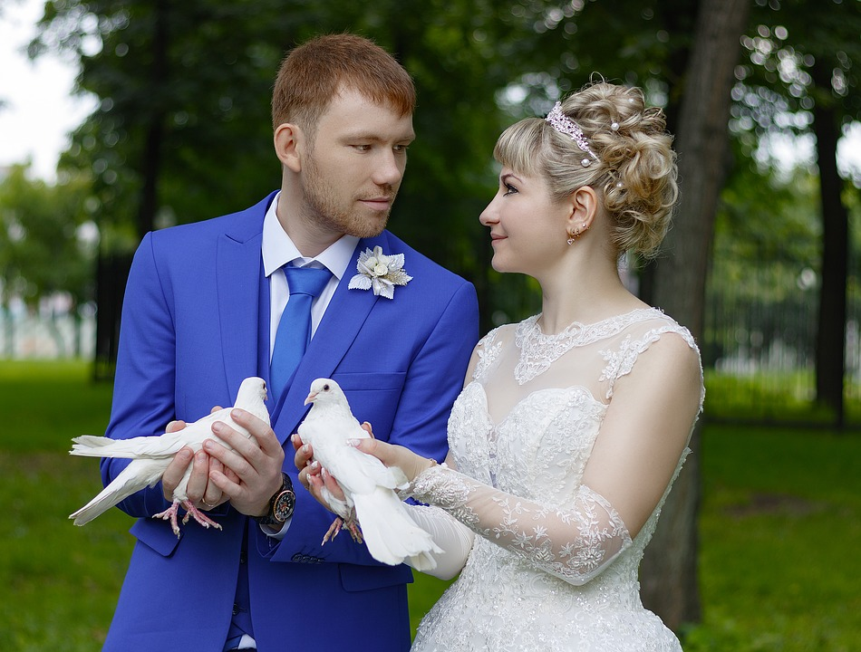 Acconciatura da sposa con frangia