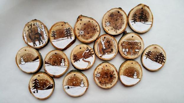 Addobbi Natale legno