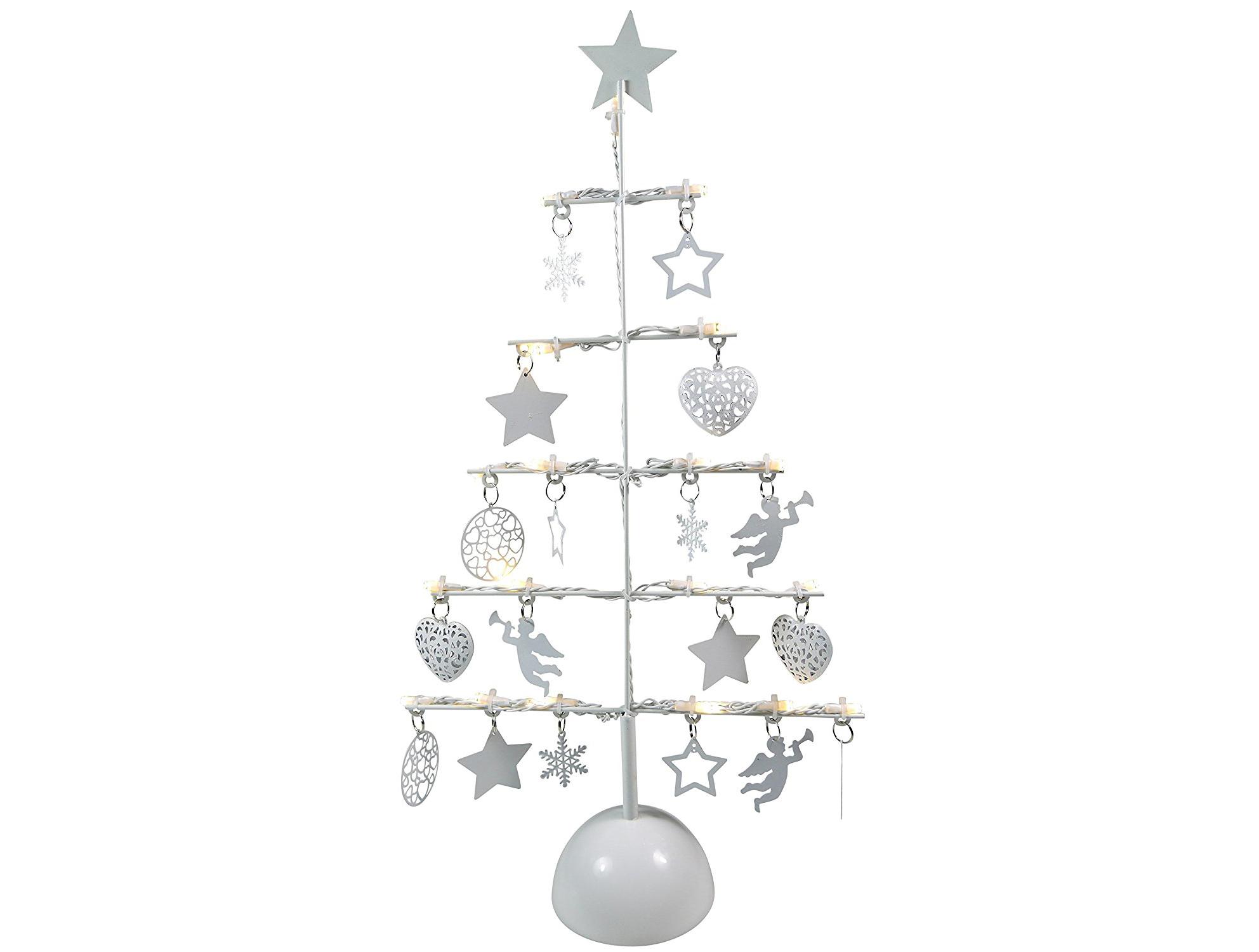 Albero di Natale decorativo in metallo con Luci di Natale a LED..