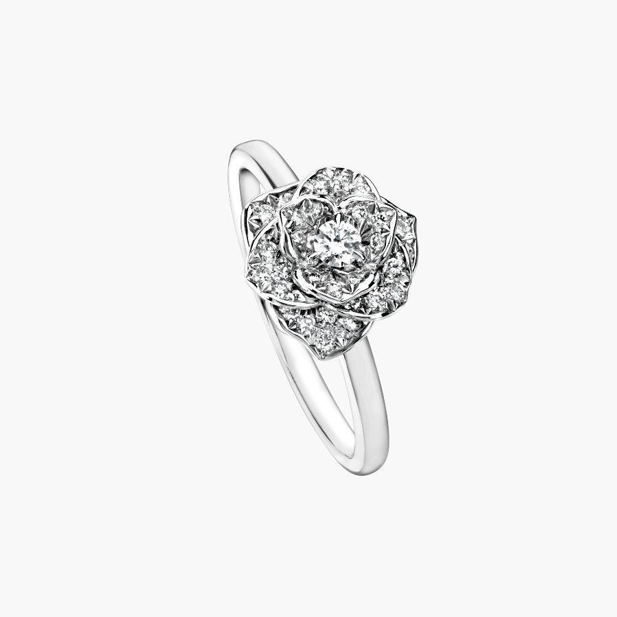 Anello di fidanzamento in oro bianco Piaget