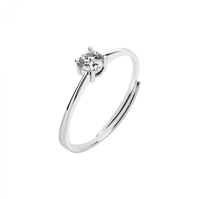 Anello di fidanzamento stile solitario in argento Bluespirit