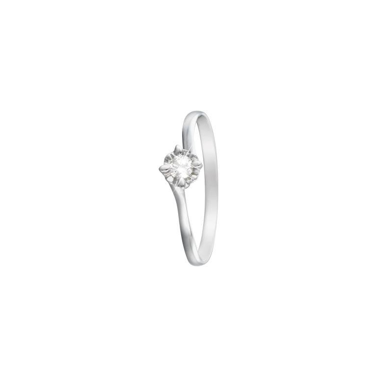 Anello solitario 18 carati con diamante Stroili Oro