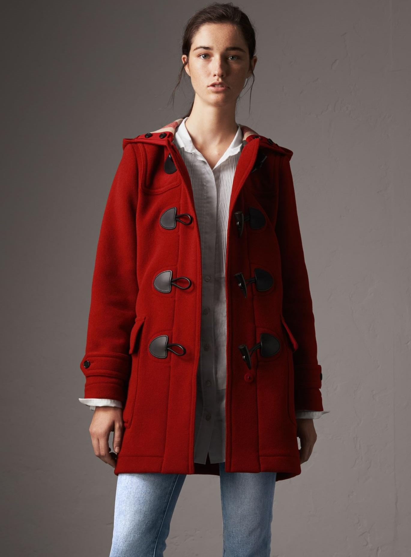 Cappotto montgomery rosso Burberry