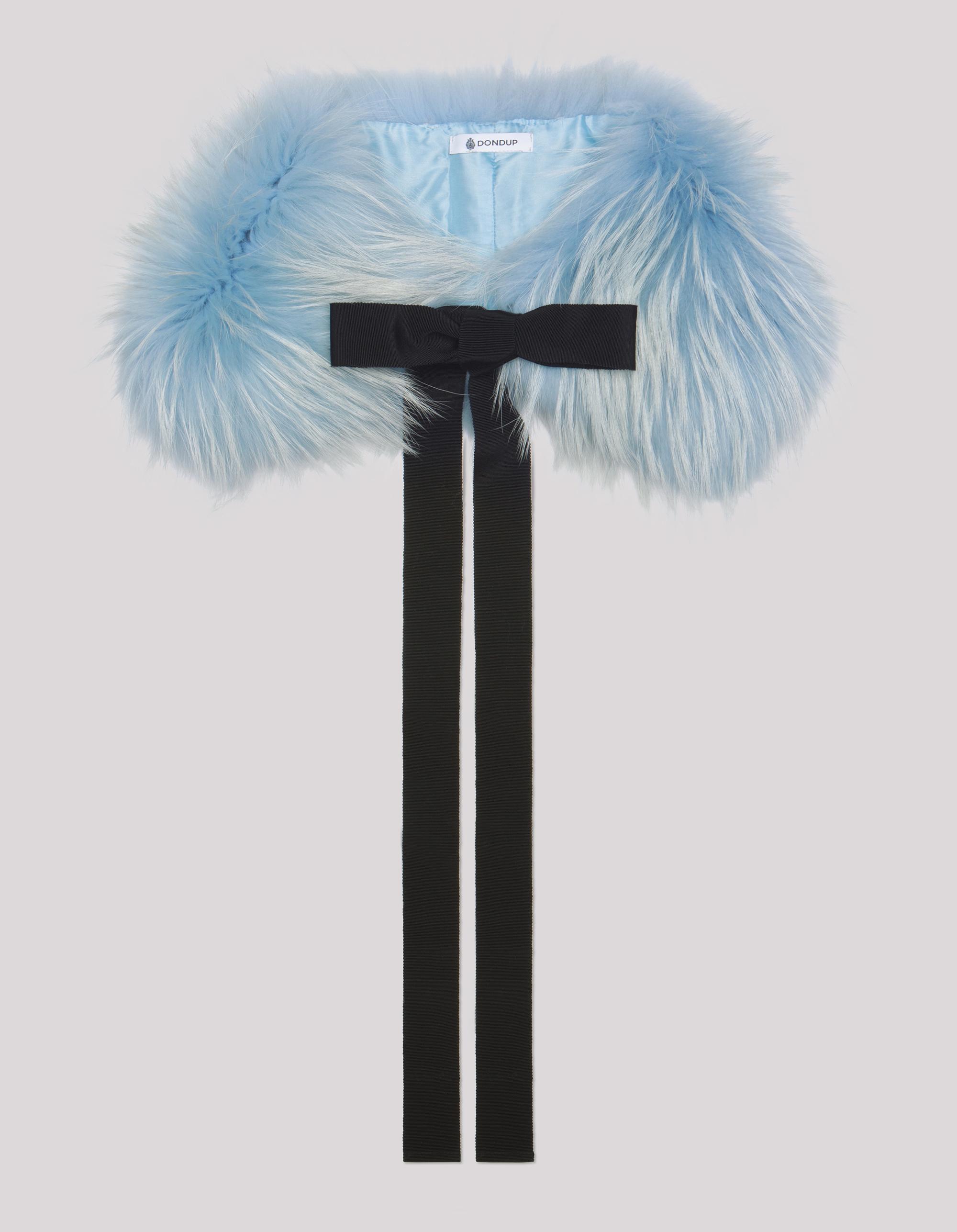 Collo di pelliccia azzurro Dondup