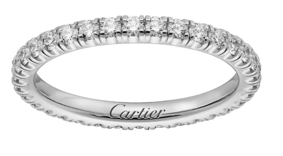 Fede in oro bianco con diamanti Cartier