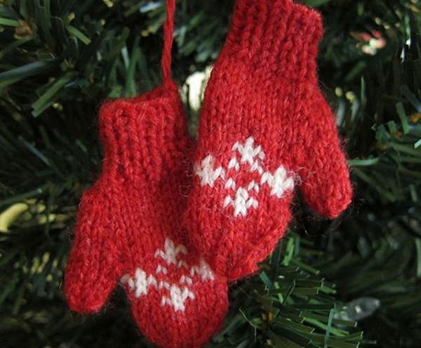 Guanti decorazioni Natale