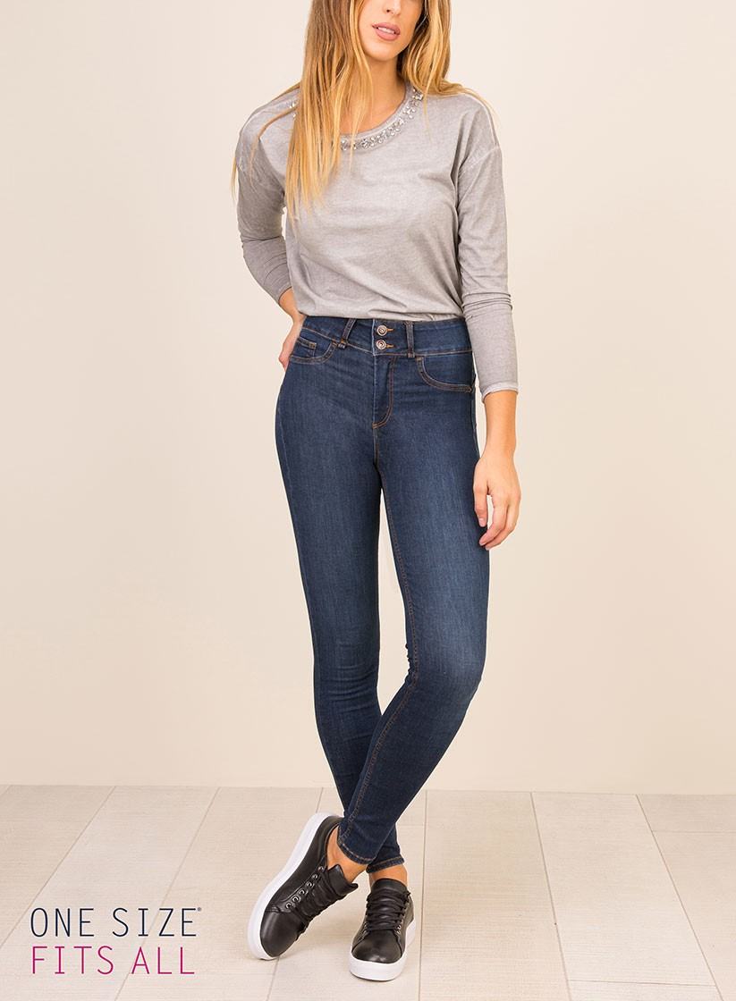 I jeans a vita alta Tiffosi