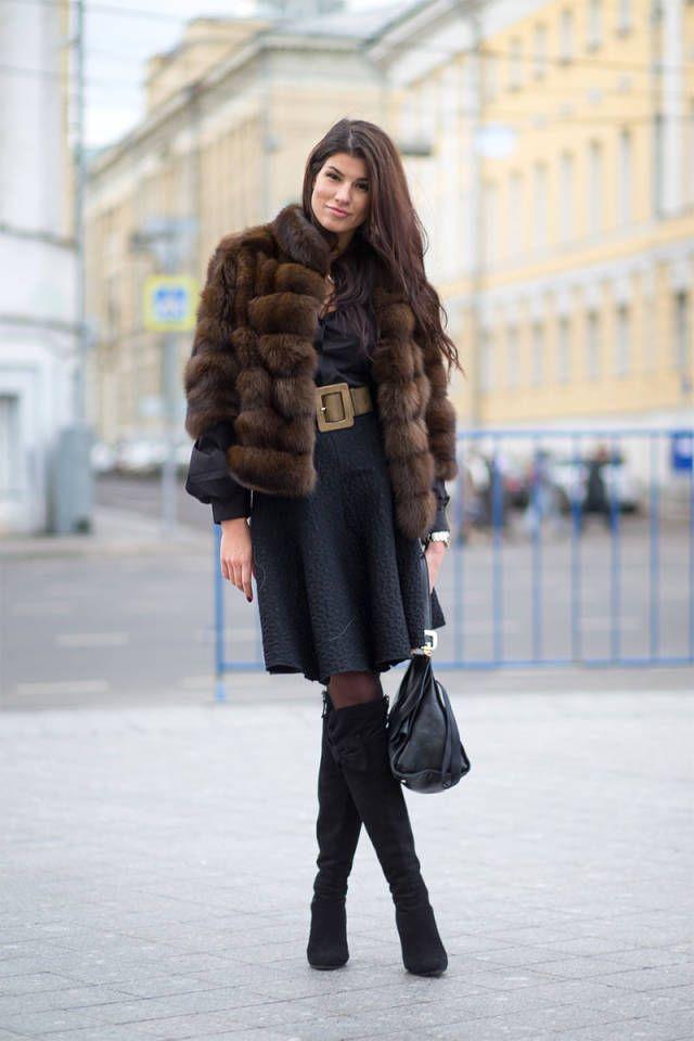Il pellicciotto sugli abiti
