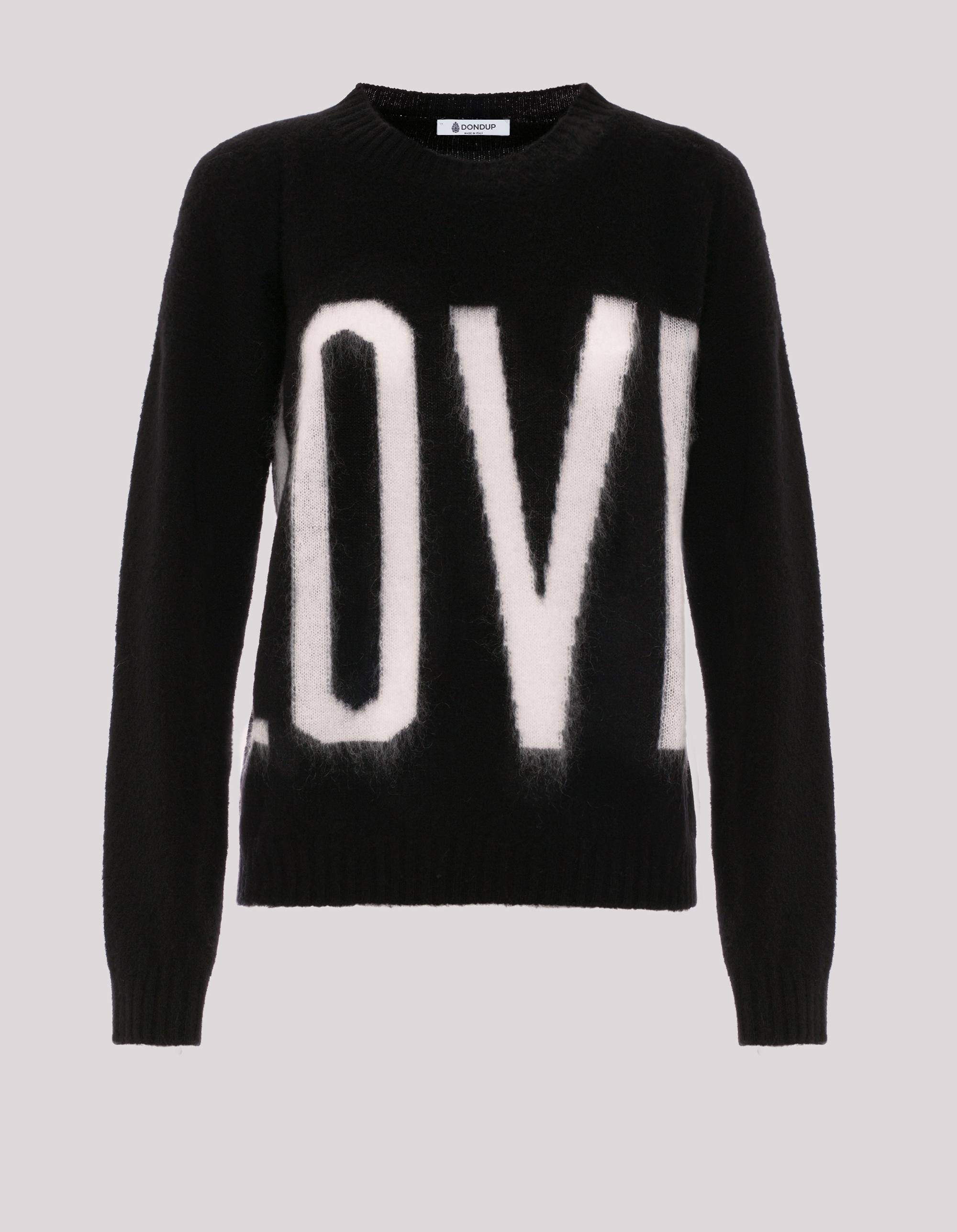 Maglione in lana e cashmere con scritta Love