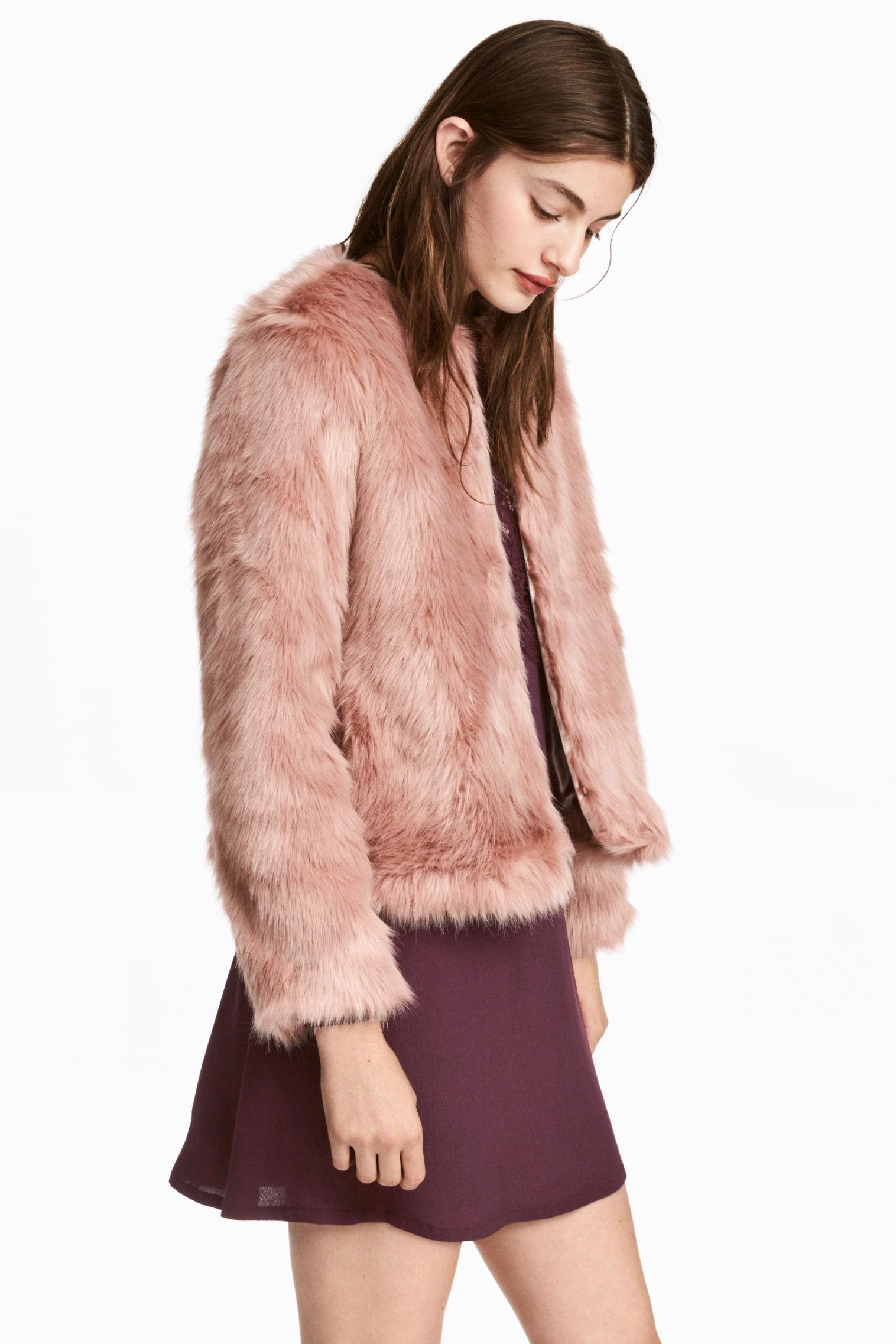 Pellicciotto ecologico rosa H&M