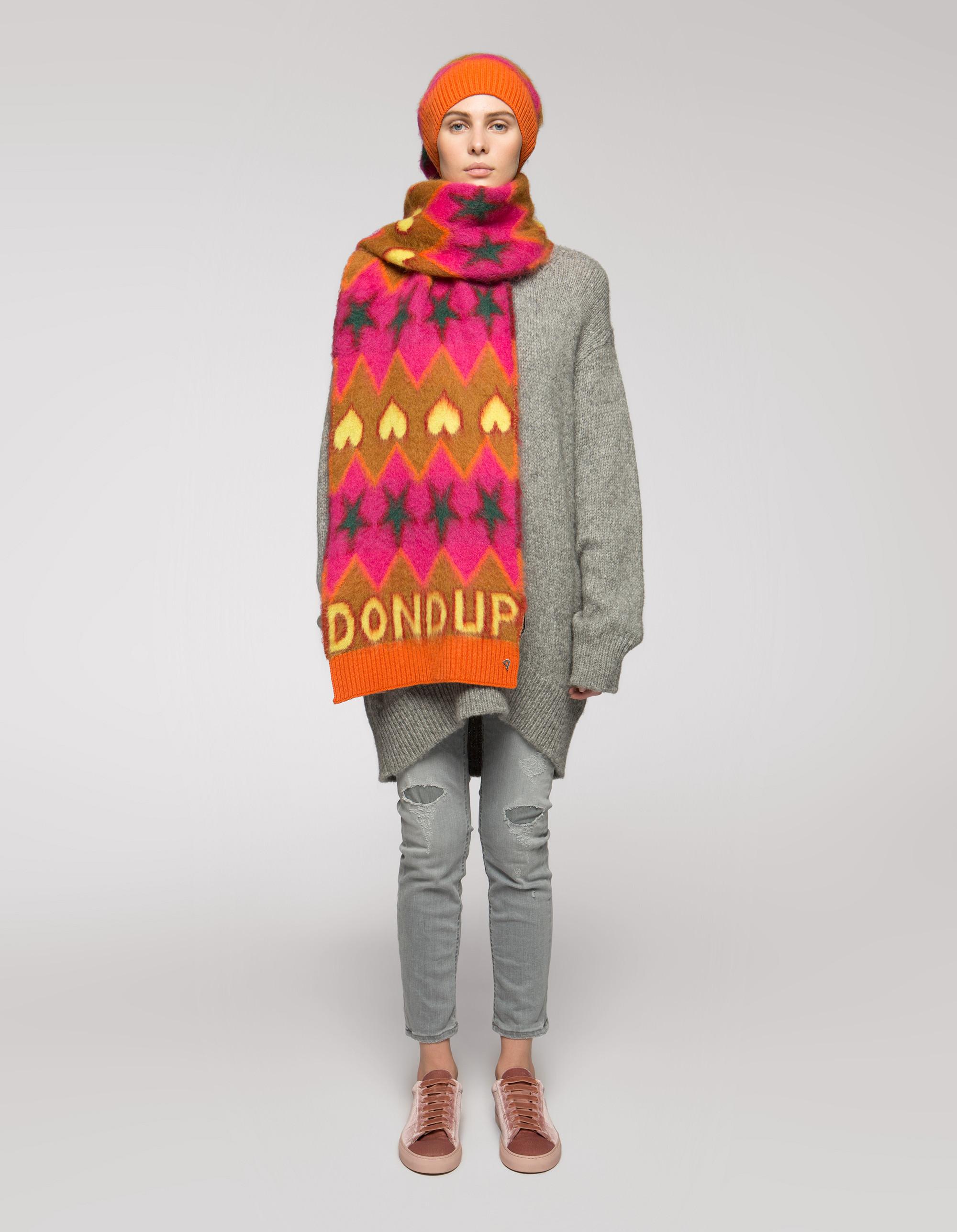 Sciarpa in lana e angora Dondup