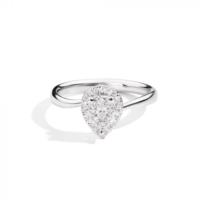Solitario con diamante a goccia Re Carlo