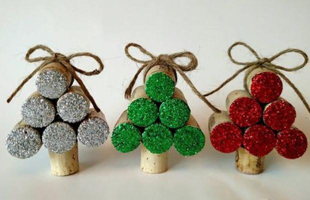 Tappi sughero decorazioni natalizie