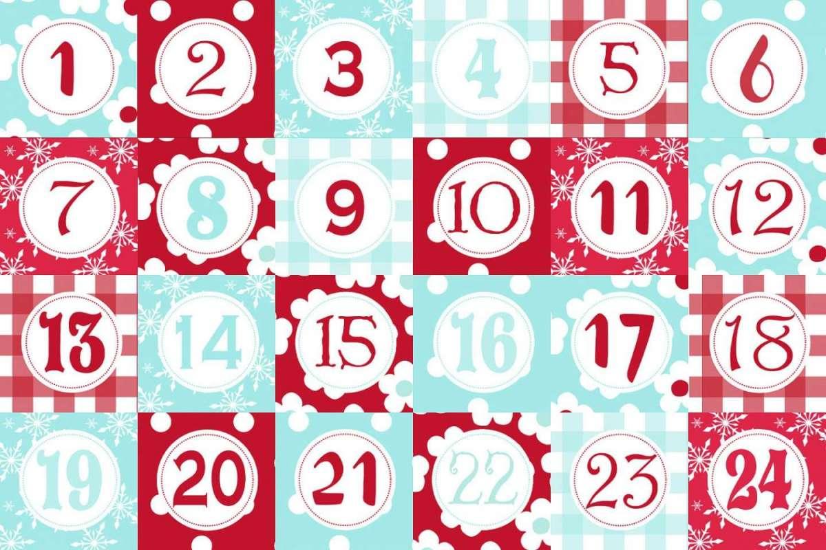 Calendario Dellavvento Da Stampare Per Bambini.Calendario Dell Avvento Da Stampare Idee Fai Da Te Foto