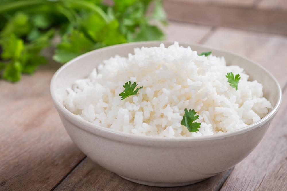 riso bianco bollito