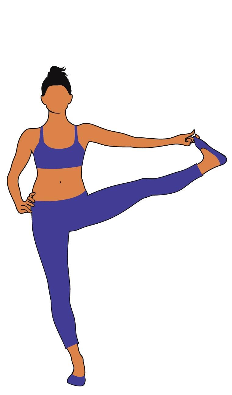 sollevamento laterale gamba in piedi