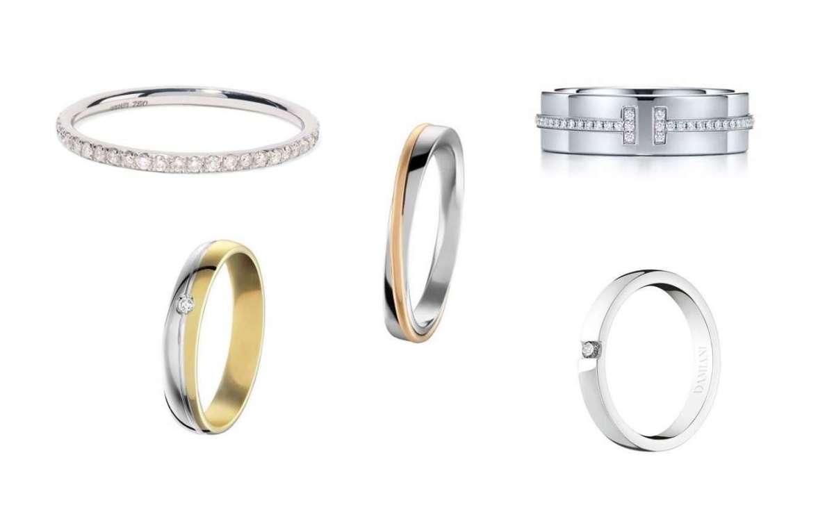 Fedi nuziali in oro bianco e fedine di fidanzamento