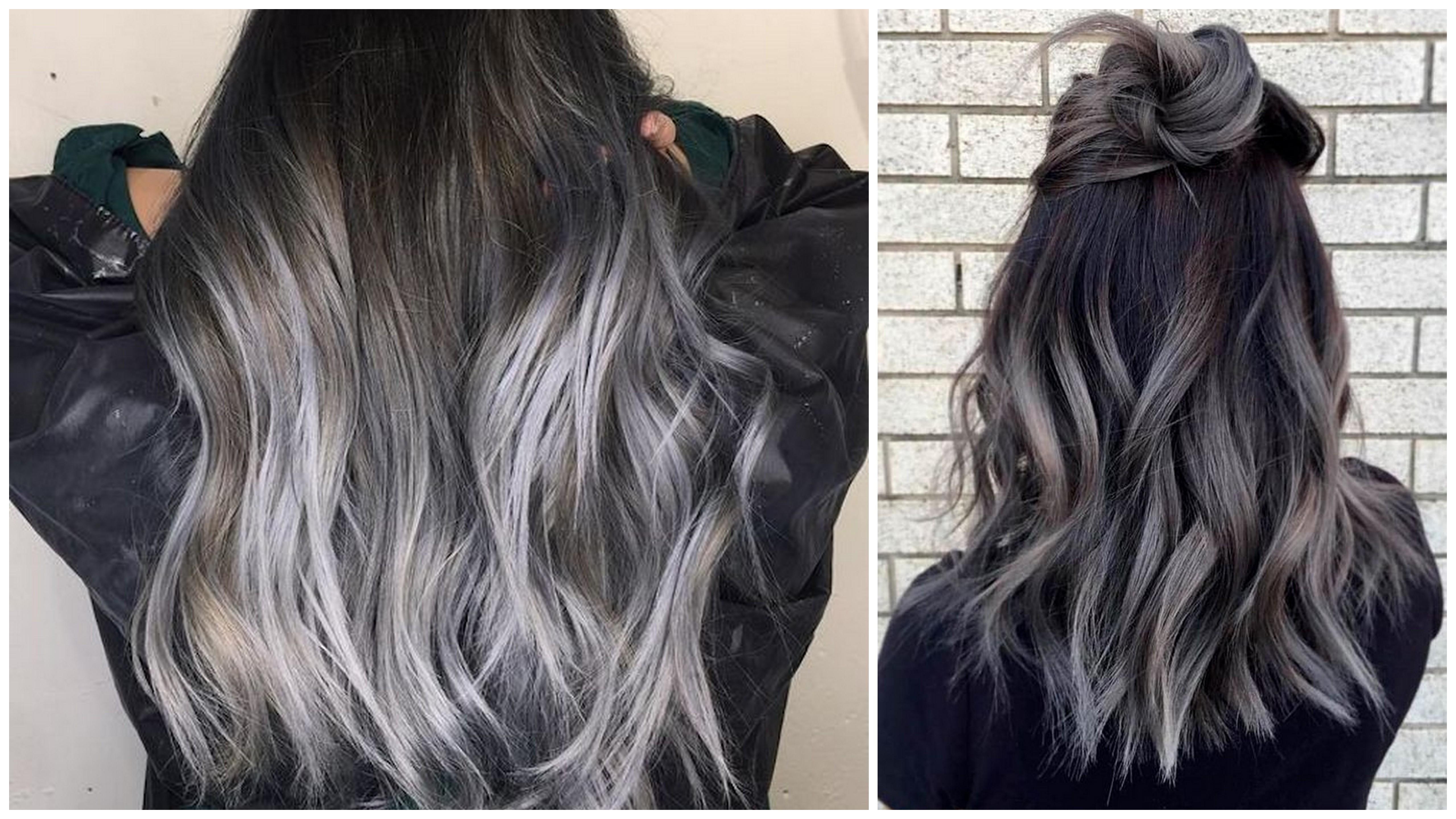shatush grigio capelli castani