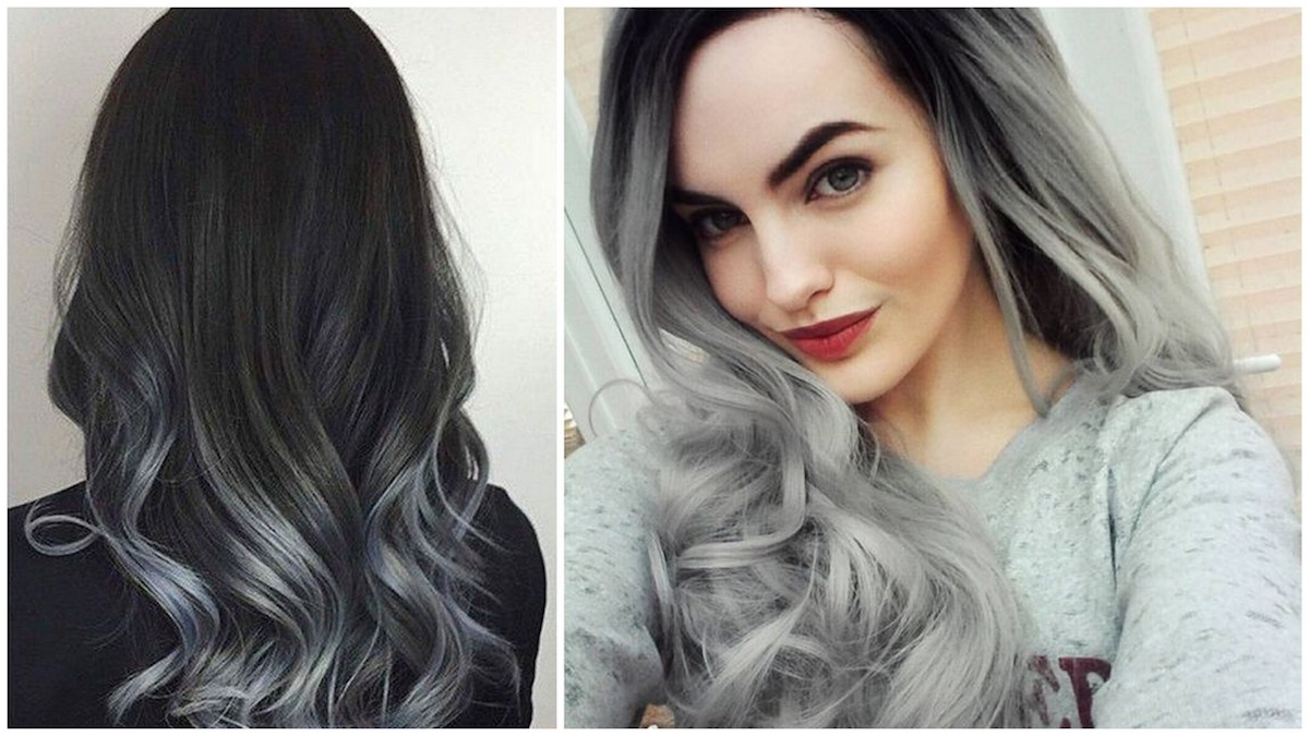 shatush grigio capelli neri