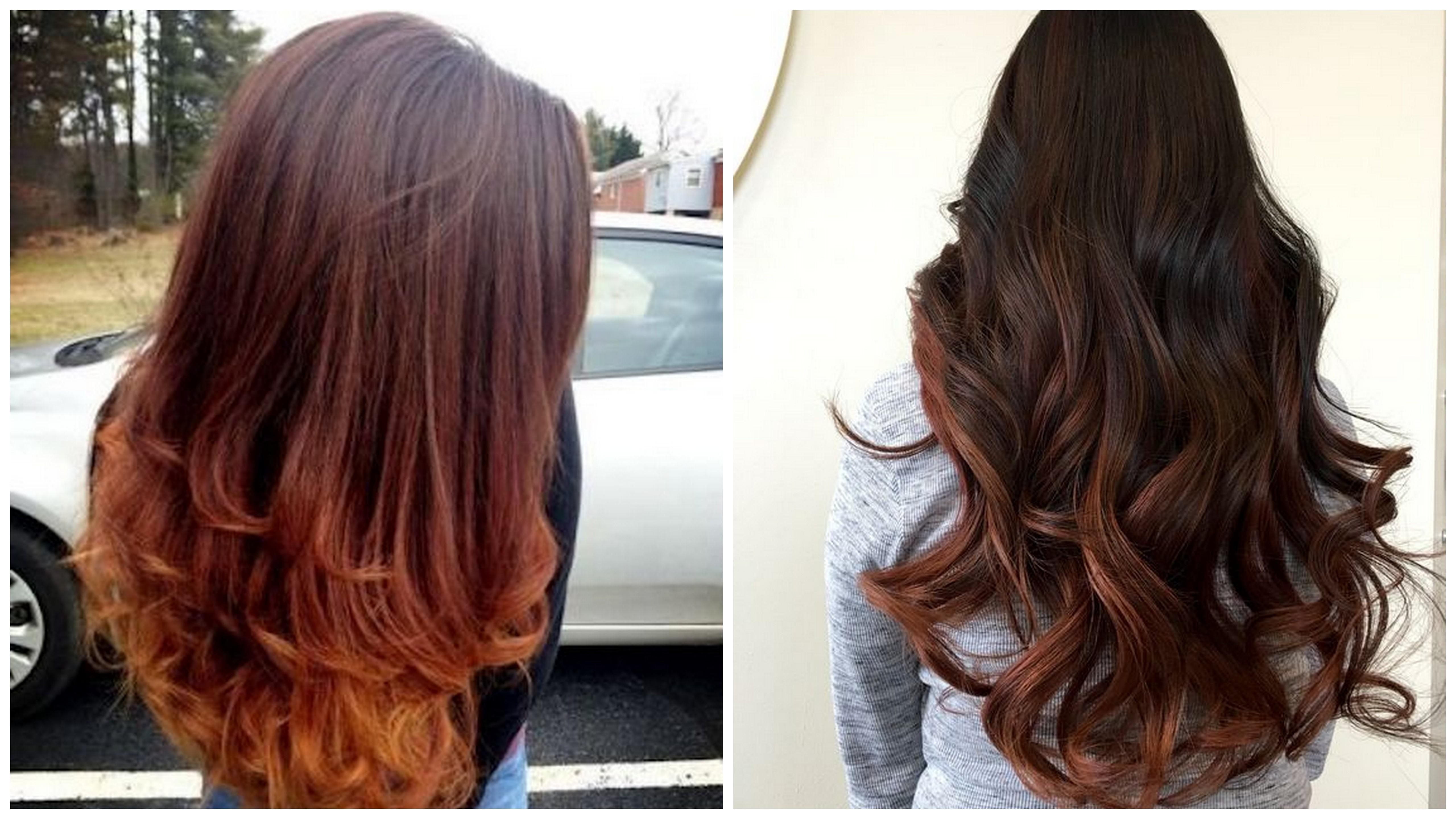 shatush rosso capelli castani